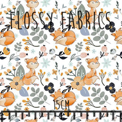 Foxes on White Minky-Flossy Fabrics