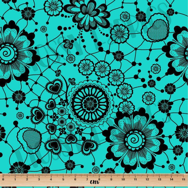 Lace Tiffany Blue-Flossy Fabrics