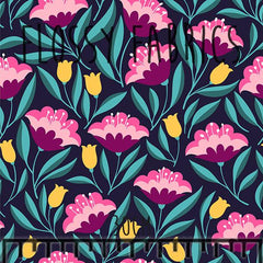 Midnight Garden - faux leather A4-Flossy Fabrics