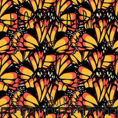 Monarch Wings - faux leather A4-Flossy Fabrics