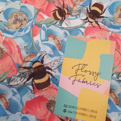 Poppies and bees - PUL-Flossy Fabrics