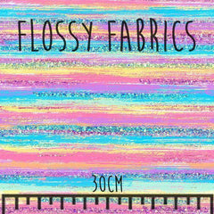 Rainbow Brush Stripes - faux leather A4-Flossy Fabrics