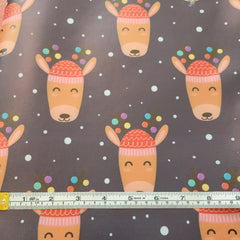 Reindeer - faux leather A4-Flossy Fabrics