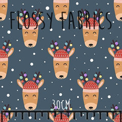Reindeer French Terry-Flossy Fabrics