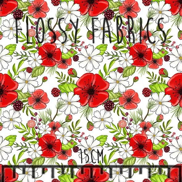 Woodland Friends Blossoms Bamboo Lycra-Flossy Fabrics