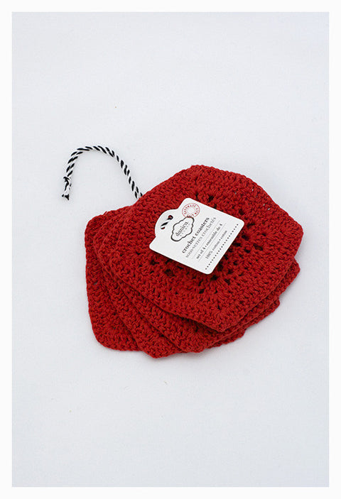 Grenadine Crochet Coaster Set