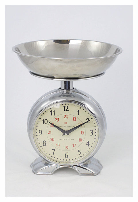 Bengt Ek Scale Clock, Sainless Steel Mechanical Kitchen Scale