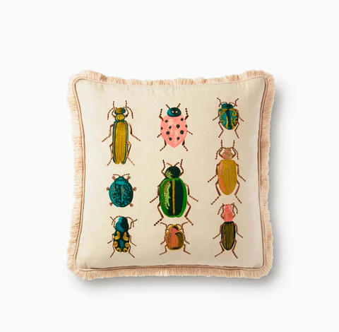 Rifle Paper Co Beetles and Bugs Pillow
