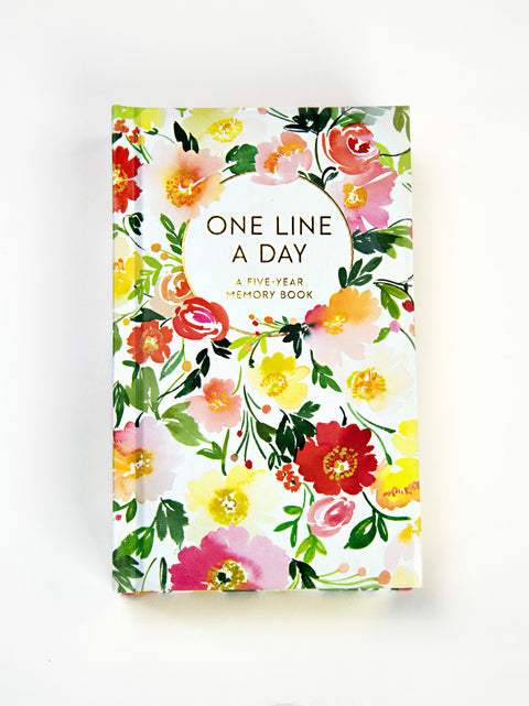 Floral One Line A Day: A Five Year Memory Book