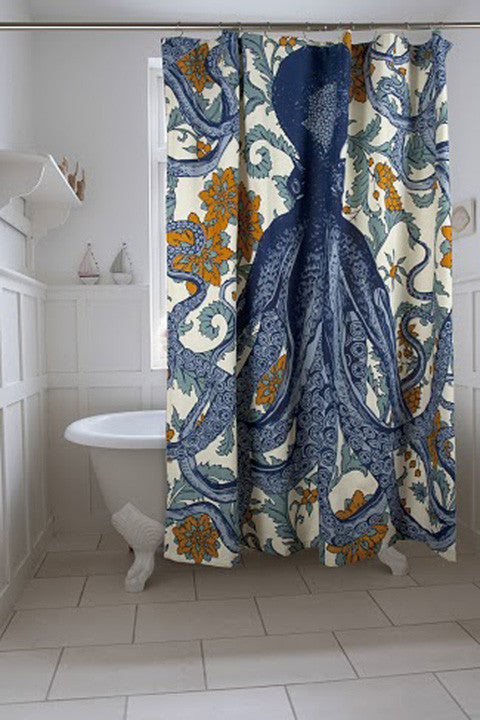 Octopus Vineyard Shower Curtain