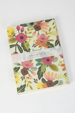 Mint Floral Notebook