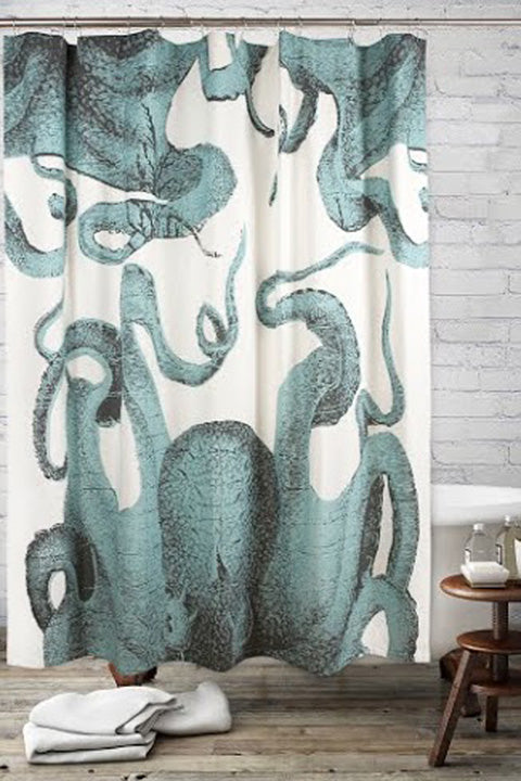 Pulpo Octopus Shower Curtain