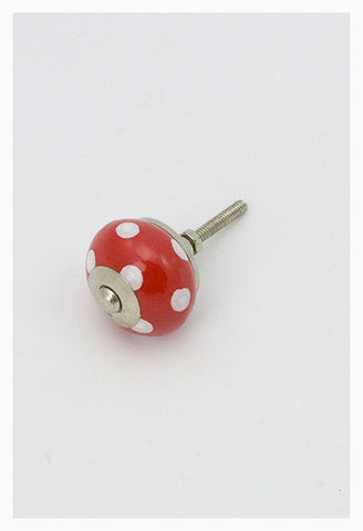 Dotted Red Knob