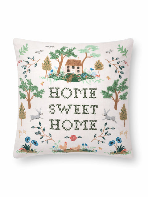 Rifle Paper Co Home Sweet Home Pillow