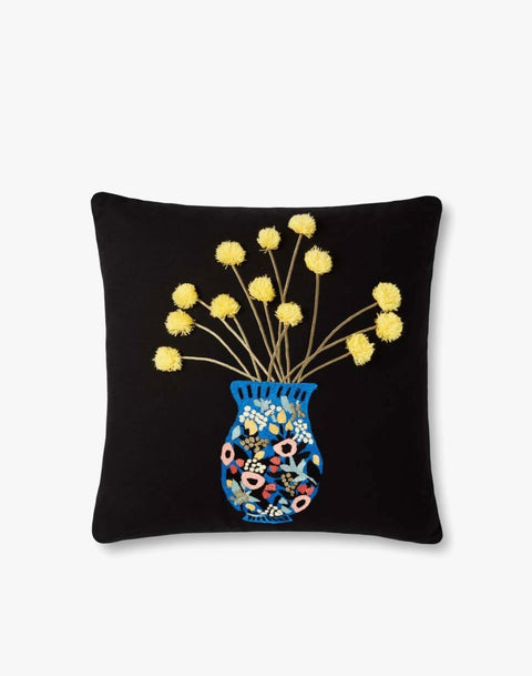 Rifle Paper Co. Yellow Flower Pillow