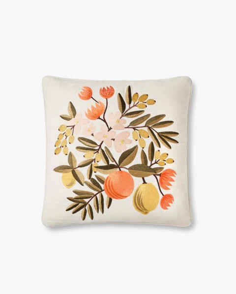 Rifle Paper Co Citrus Floral Pillow