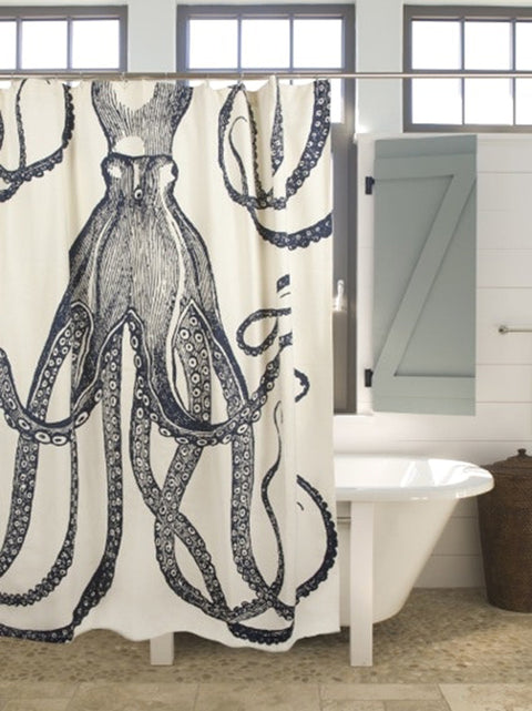 Octopus Ink Shower Curtain