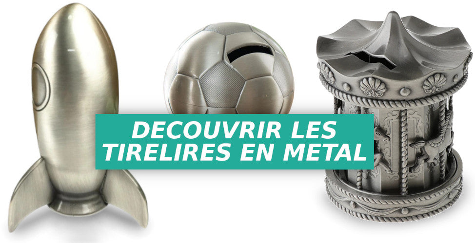 collection de tirelires en metal