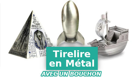 collection des tirelires en metal