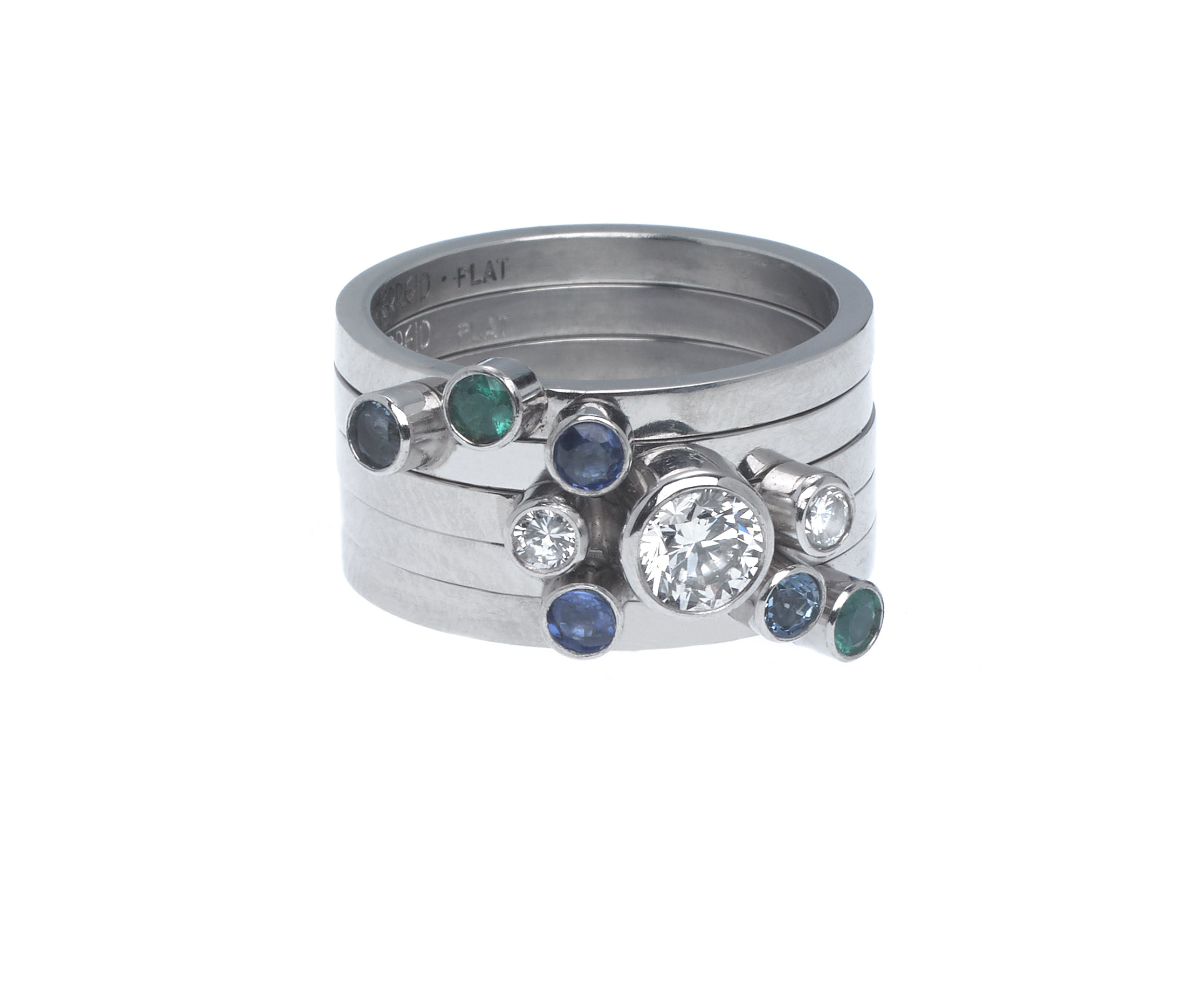 Mother's ring – Flower – asymmetrically arranged