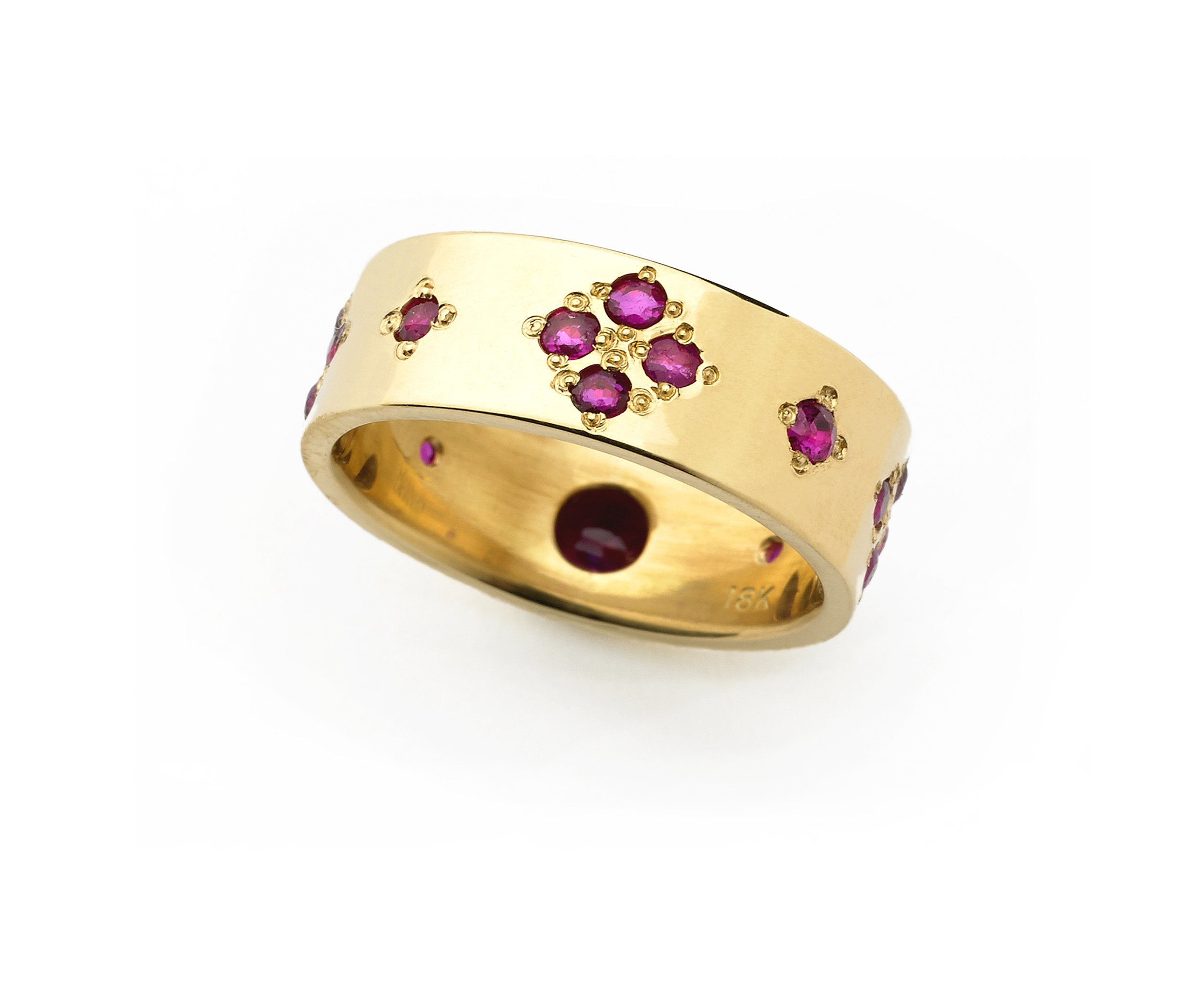 Mary, Queen of Scots Ring, 18K and Rubies