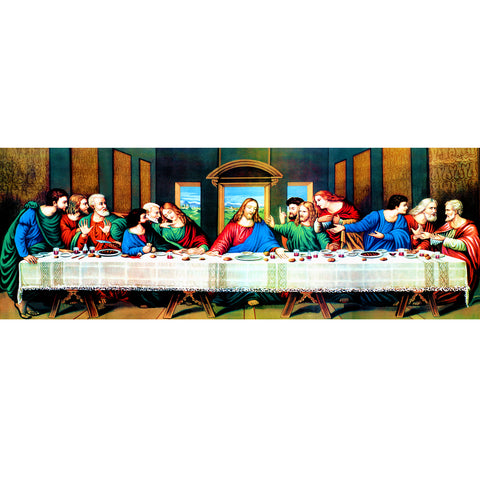 The Last Supper - Partial Round Diamond Painting(80*30cm)