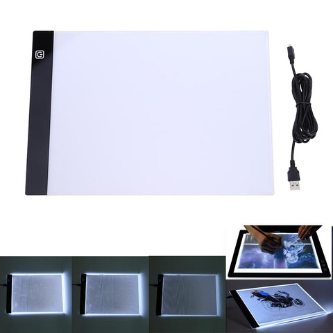 A4 K2 LED Artist Thin Type Stencil Drawing Board Light Tracing Table Pad