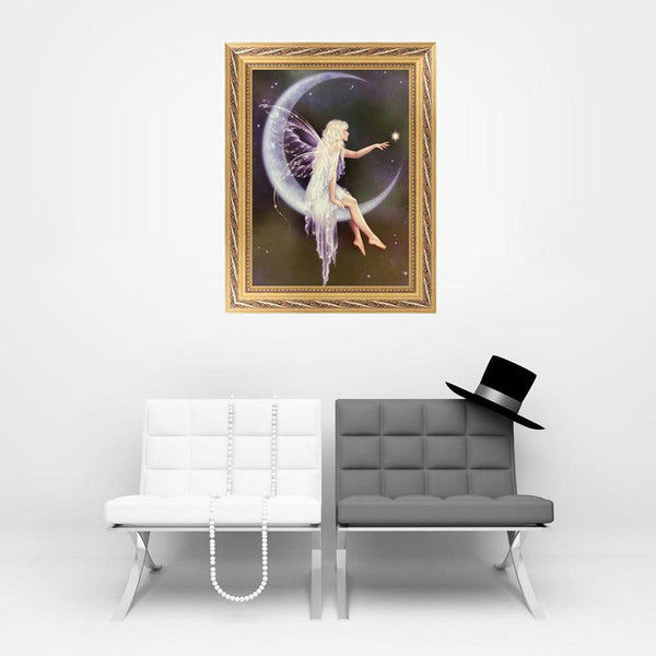 Angel in Moon - Partial Round Diamond Painting