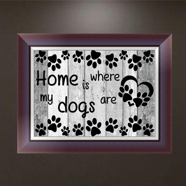 Letter Dog Paw - Partial Round Diamond Painting