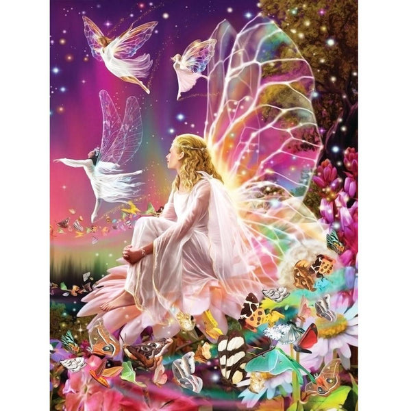 Butterfly Fairy Girl - Partial Round Diamond Painting