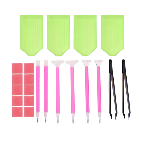 5D DIY Diamond Painting Cross Stitch Embroidery Pen Tools Set Accessories
