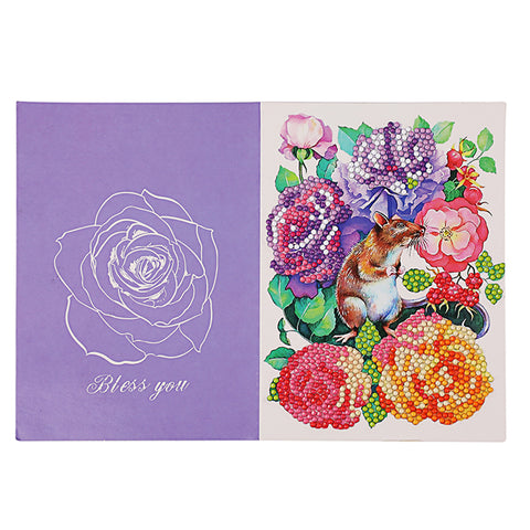 DIY Diamond Painting Greeting Cards Flowers Birthday Festival Blessing Gift
