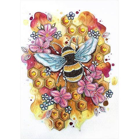 Bee - Crystal Rhinestone Diamond Painting