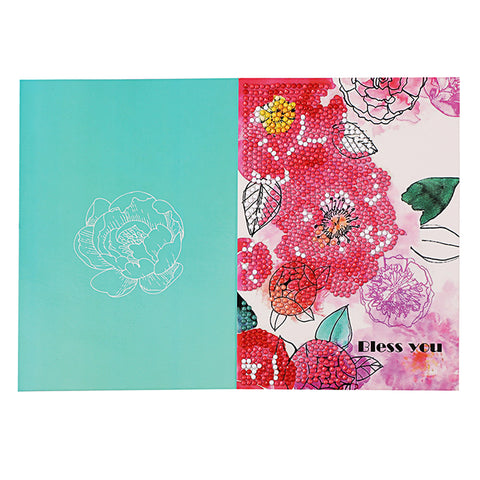 DIY Diamond Painting Flowers Greeting Card Birthday Valentine Blessing Gift