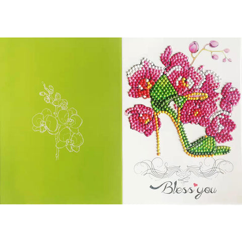 5D DIY Drills Diamond Painting High Heel Shoes Cards Birthday Wedding Gifts