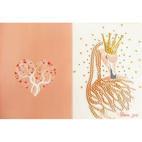 5D DIY Drills Diamond Painting Crown Deer Greeting Card Wedding Party Gifts
