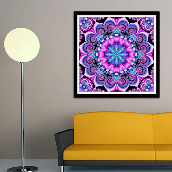 Geometric Flower - Full Round Diamond Painting