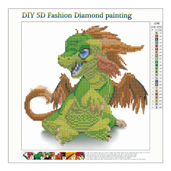 Dragon - Partial Round Diamond Painting