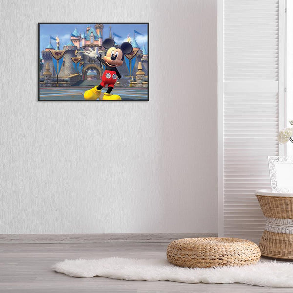 Cartoon Mouse and Castle - Full Round Diamond Painting