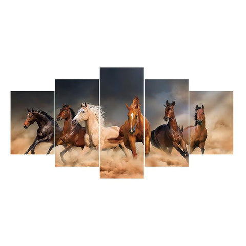 5pcs/set 6 Horse - Full Round Diamond Painting(95*45cm)