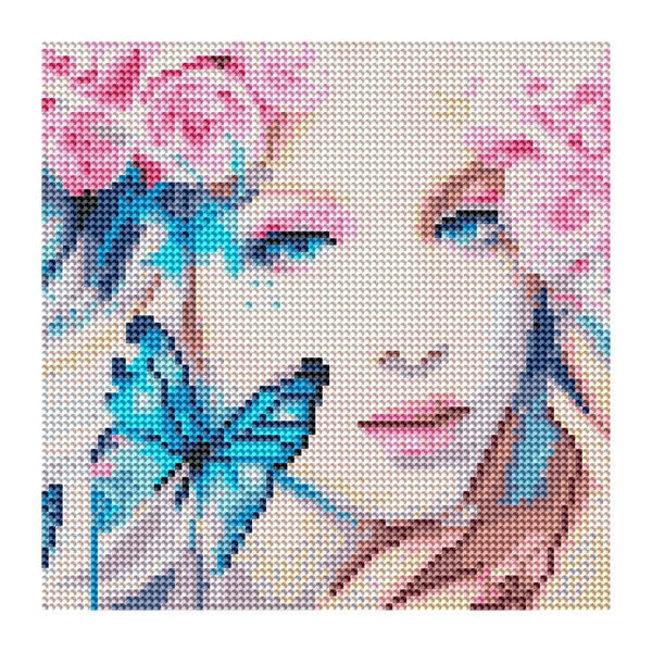 Butterfly Girl - Full Round Diamond Painting