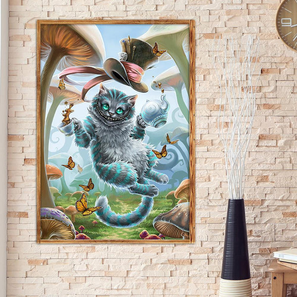 Naughty Cat - Full Round Diamond Painting
