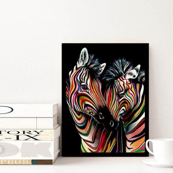 2 Zebra - Full Round Diamond Painting