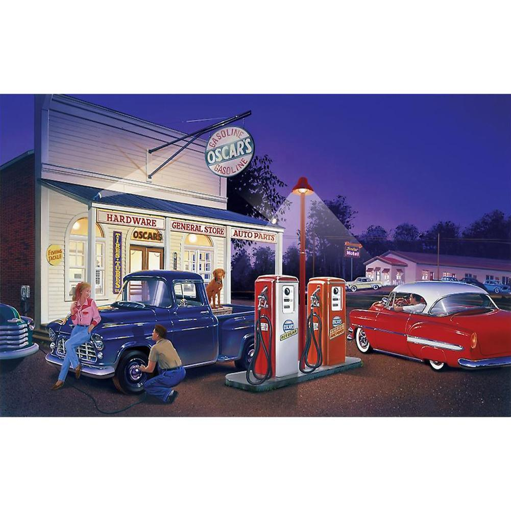 Gas Station - Full Square Diamond Painting
