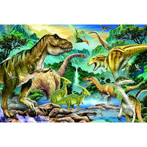 Dinosaurs River - Full Round Diamond Painting