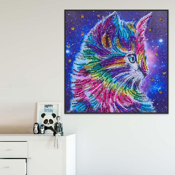 Color Cat - Crystal Rhinestone Diamond Painting