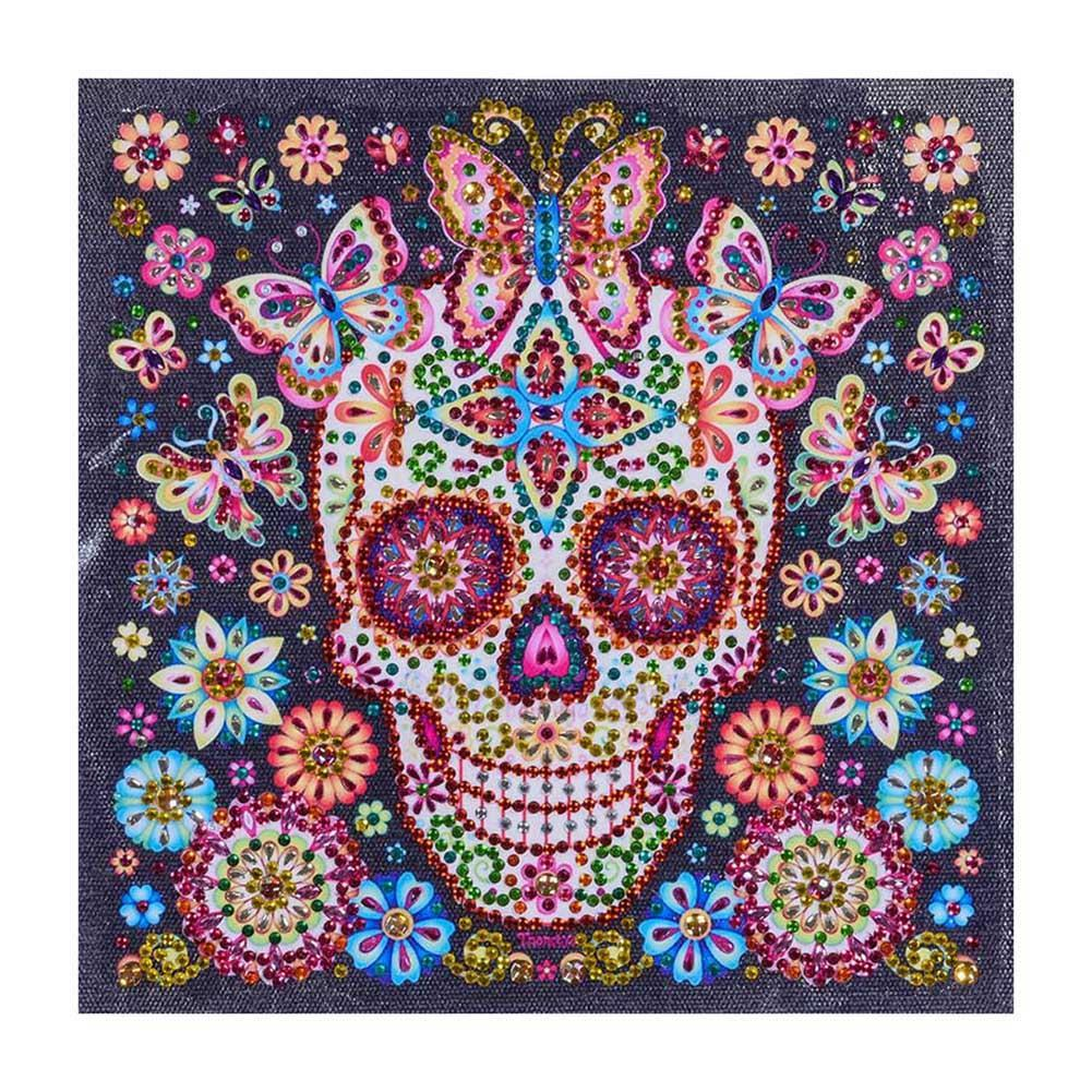 Flower Skull - Crystal Rhinestone Diamond Painting