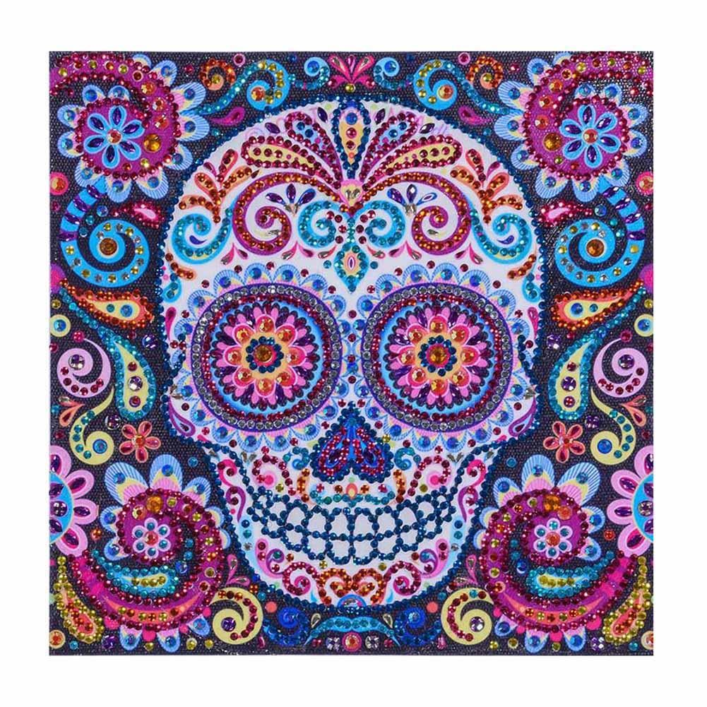 Novelty Skull - Crystal Rhinestone Diamond Painting