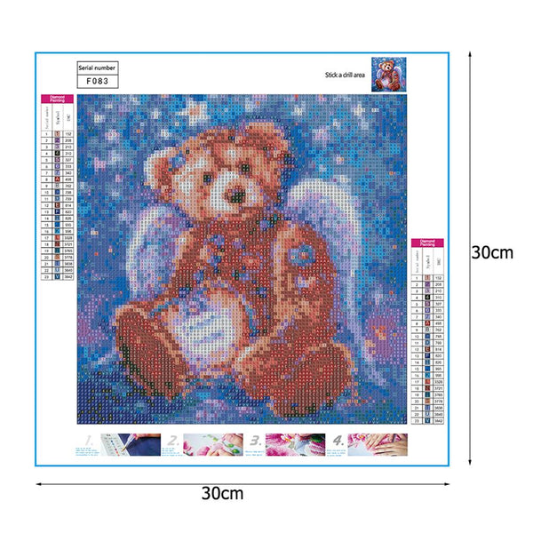 Bear with Wings - Full Square Diamond Painting
