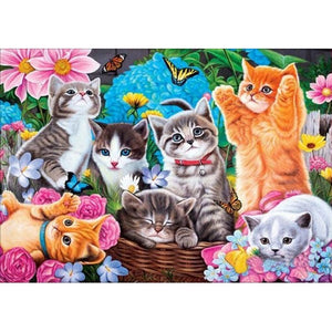 Cats Party - Full Square Diamond Painting